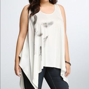 Torrid Feather Print Tank Top